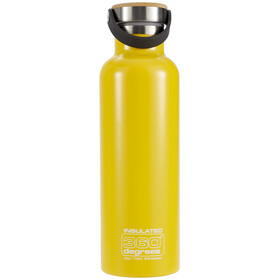 360° degrees Vacuum Insulated Drinkfles 750ml geel